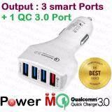 ราคา Power M Quickcharge 3 ช่องชาร์จไว 1 Ports 3 Smart Ports ที่ชาร์จมือถือในรถ 4 ช่อง ที่ชาร์จในรถแบบ Usb Car Charger หัวใหญ่ ใหม่