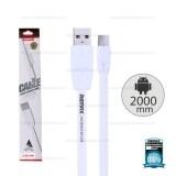 โปรโมชั่น Remax 2M Micro Usb Cable Fullspeed Quick Charge Data สายชาร์จไมโคร 2000Mm White ใน ไทย