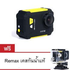 Remax Action Camera Sport รุ่น SD-01 (สีเหลือง)