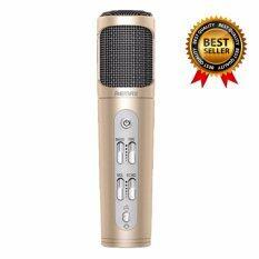 ราคา Remax ไมโครโฟน Microphone Karaoke ร้องเพลง คาราโอเกะ สำหรับ Iphone Android รุ่น K02 Gold เป็นต้นฉบับ