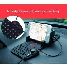 ขาย Remax Car Holder ขาตั้งมือถือ แท่นวางโทรศัพท์ ในรถยนต์ ชาร์จไฟได้ ระบบแม่เหล็ก พร้อมสายชาร์จ 2 In 1 สีดำ ถูก
