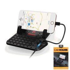 ซื้อ Remax Car Holder Charger Super Flexible แท่นวางโทรศัพท์ในรถยนต์พร้อมที่ชาร์จในตัว สีดำ ถูก กรุงเทพมหานคร