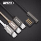 ขาย ซื้อ Remax Double Side Usb 90 Degree Data Cable Fast 8Pin Usb Cable Charging 2 1A Sync Charger Cable Line For Apple Iphone 5 6 7 Plus Intl ใน จีน