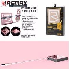 ราคา Remax Hub Ru U7 Usb 3 สามารถเป็น Card Reader รองรับ Tf Card และ Sd Card ใหม่ ถูก