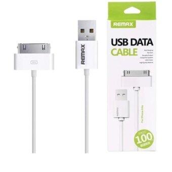 Remax สายชาร์จ Micro USB Data Cable for iPhone 4/4s iPad2/3/4(สีขาว)