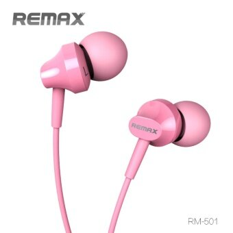 REMAX-RM501 Super Bass Stereo Headsets 3.5mm Plug Earphones (Pink)