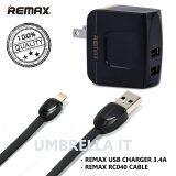 ซื้อ Remax สายชาร์จ Usb Lightting Cable For I5 I5S I6 I6S รุ่น Rc 040I สีดำ Remax 3 4A Usb Charger Adapter สีดำ ถูก ใน ไทย