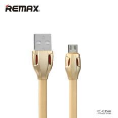 ราคา Remax สายชาร์จ สำหรับ Samsung Andriod Micro Usb 1เมตร รุ่น Laser Data Cable Rc 035M สีทอง ใหม่ ถูก