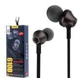 ราคา Remax In Ear Headphone Small Talk หูฟังแบบสอดหู พร้อมไมโครโฟน รุ่น Rm 610D Black