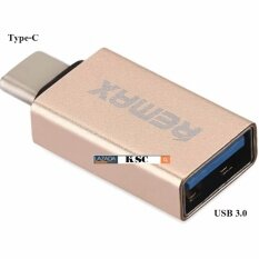 REMAX Type-C USB 3.0 OTG Sync Charging Adapter Connector-ทอง (Gold)