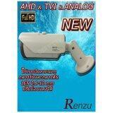 Renzu กล้องวงจรปิด 3 ระบบ Ahd Tvi Analog Full Hd ขาว ฟรี หม้อแปลงไฟฟ้า เป็นต้นฉบับ