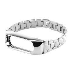 ขาย Replacement For Xiaomi Mi Band 2 Strap Stainless Steel Slim Watchband Bracelet Smart Watch Strap For Xiaomi Mi Band 2 Accessory Bands Silver Intl