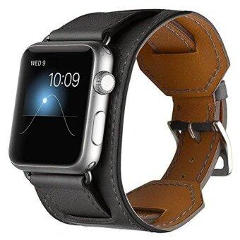 แท้นาฬิกาหนังข้อมือสายรัดข้อมือสำหรับ Apple Watch Series 3 Series 1 Series 2 ทุกรุ่น 42mm