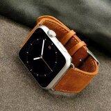 โปรโมชั่น Retro Style Crazy Horse Leather Watch Band With Lugs Adapters For Apple Watch Series 2 Series 1 38Mm Brown Intl Unbranded Generic ใหม่ล่าสุด