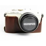 ทบทวน Retro Vintage Camera Bag Case Fits For Olympus Pen Lite Epl7 E Pl7Epl8 E Pl8 Bottom Pu Leather Half Body Set Cover Intl Unbranded Generic