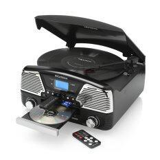 ราคา Ricatech Ibiza All In 1 Retro Turntable เครื่องเล่นแผ่นเสียง รุ่น Rmc90 Black ที่สุด