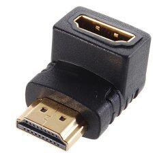 ขาย Right Angle Hdmi Male To Female Adapter St 001019 Black Unbranded Generic