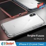 ขาย Ringke Fusion Iphone X เคสใสกันกระแทก ผ่านการทดสอบการกระแทกระดับ Military Grade ด้วยเทคโนโลยีกระจายแรงกระแทก Crytral Clear Ringke ถูก