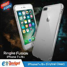 Ringke Fusion Iphone7Plus 8Plus 5 5 เคสใสกันกระแทก ผ่านการทดสอบการกระแทกระดับ Military Grade ด้วยเทคโนโลยีกระจายแรงกระแทก สีใส เป็นต้นฉบับ