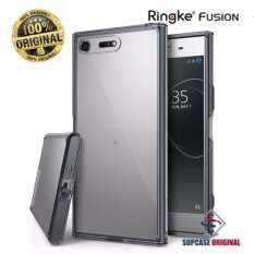 โปรโมชั่น Ringke Fusion เคสกันกระแทกระดับ Military Grade ของแท้ สำหรับ Sony Xz Premium สีดำใส Smoke Black Rearth
