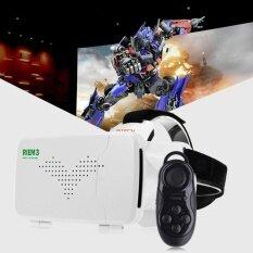 Ritech Riem 3 เสมือน Reality 3d แว่น Vr หัวชุดหูฟังโรงหนังส่วนตัวด้วยรีโมทคอนโทรลสำหรับ 3.5-6 นิ้วมาร์ทโฟน - Intl.