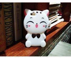 ราคา Rorychen Cartoon Lucky Cat Cute Couple Shell Apple Phone Case Lanyard All Soft Shell (Iphone6 6S) Intl ราคาถูกที่สุด