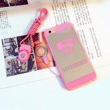 โปรโมชั่น Rorychen Pink Marble Apple Phone Case Simple Couple Smooth Case Soft Case(Iphone6 Plus 6S Plus) Intl