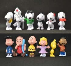 ขาย Rorychen Snoopy Car Ornaments Home Decor Doll 12Psc Intl ใน จีน
