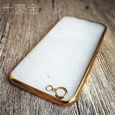 Rose Gold Plating Crystal Transparent Clear Soft TPU Back Cover .
