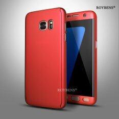 ราคา Roybens 360 Degree Full Body Protect Hard Slim Case Cover With Screen Protector For Samsung Galaxy S7 Edge Red Intl ถูก
