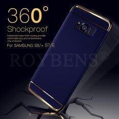 ขาย Roybens 3In1 Electroplate Hard Shockproof Slim Case Cover With Screen Protector For Samsung Galaxy S8 Blue Intl Roybens ผู้ค้าส่ง
