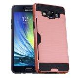 ขาย Ruilean Case Cover For Samsung Galaxy A5 2015 Dual Layer Tpu Pc Shockproof Card Slot Brushed Armor Protective Rose Gold Ruilean ถูก