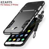 ขาย ซื้อ ออนไลน์ Rzants เคส Galaxy J7 สำคัญกรณีที่มีเชือกเส้นเล็ก ชุดเกราะ มีขาตั้งพับเก็บได้ ปกคลุมกลับยากเคส Samsung Galaxy J7 สำคัญ