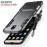 ราคา Rzants เคส Galaxy J7 Pro กรณีที่มี Lanyard ชุดเกราะ Kickstand Hard Back Cover เคส Sam Sung Galaxy J7 Pro ที่สุด
