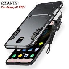 ขาย Rzants เคส Galaxy J7 Pro กรณีที่มี Lanyard ชุดเกราะ Kickstand Hard Back Cover เคส Sam Sung Galaxy J7 Pro จีน