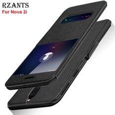 ราคา Rzants เคสสำหรับ Nova 2I หรูหรา Slim【Window】View พร้อมขาตั้งแม่เหล็กฝาครอบหนังเคสสำหรับ Huawei Nova 2I นานาชาติ เป็นต้นฉบับ Rzants
