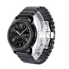 นาฬิกาเซรามิคสายคล้องคอหัวเข็มขัดผีเสื้อสำหรับเกียร์ S3 คลาสสิก Sm R770 S3 Frontier Sm R760 Sm R765 Smart Watch จีน