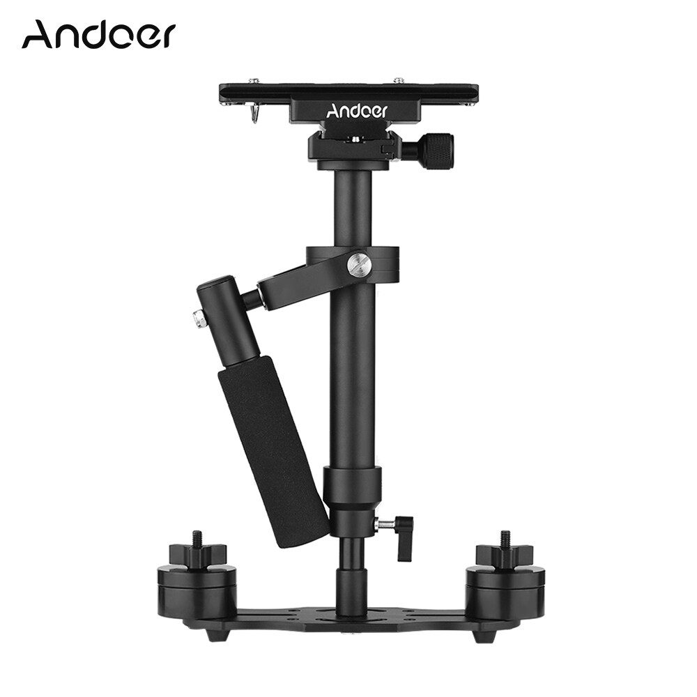 Andoer S40 Professional 40cm Aluminum Alloy Handheld Stabilizer with Quick Release Plate and Clamp Base for Canon Nikon Sony DSLR Cameras Lightweight Camcorders Max Load 2kg - intl