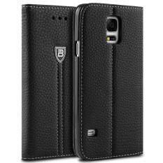 เคสซัมซุง กาแล็คซี่ S5 Bez® เคสมือถือ แบบฝาพับ ฝาปิด ตั้งได้ มีช่องใส่บัตร เคสหนัง ซองมือถือ Samsung Galaxy S5 Flip Case Cover Pu2 Gs5 เป็นต้นฉบับ