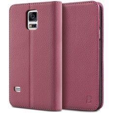 ซื้อ เคสซัมซุง กาแล็คซี่ S5 Bez® เคสมือถือ แบบฝาพับ ฝาปิด ตั้งได้ มีช่องใส่บัตร มีช่องใส่ธนบัตร เคสหนัง ซองมือถือ สีชมพู Samsung Galaxy S5 Flip Case Cover Pink Pu1 Gs5 กรุงเทพมหานคร