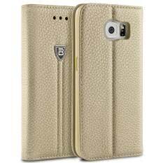 ทบทวน เคสกาแล็คซี่ S6 เคส ซัมซุง S6 เคส S6 เคสกาแล็คซี่ S6 Cases Samsung S6 Bez® เคสมือถือ ฝาพับ ฝาปิด ตั้งได้ มีช่องใส่บัตร เคสหนัง ซองมือถือ Samsung Galaxy S6 Flip Case Cover Pu2 Gs6