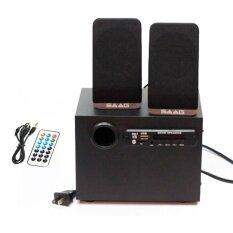 ซื้อ Saag ลำโพงบลูทูธ Bluetooth Speaker รุ่น Micro 2 1 Bt Black ออนไลน์ ถูก