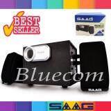 ราคา Saag ลำโพง Multimedia Speaker Micro 2 1 800W Black Silver Saag เป็นต้นฉบับ