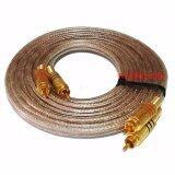 สายสัญญาณภาพ เสียง ปลั๊กRca 10 เมตร Dual Professional Audio Link Cable Rca Male To Rca Male ถูก