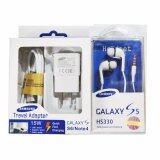 ราคา Samsung ชุดหูฟังสำหรับ Galaxy S6 แพ็คคู่ 2 ชิ้น สีดำ สีขาว Samsung
