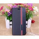 ขาย ซื้อ Samsung Galaxy J7 Prime Flip Case เคส ฝาพับ กันกระแทก หนัง 2 โทนสีดำคาดแดง J7Prime เคสฝาพับ