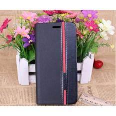 ขาย Samsung Galaxy J7 Prime Flip Case เคส ฝาพับ กันกระแทก หนัง 2 โทนสีดำคาดแดง J7Prime เคสฝาพับ Samsung ใน กรุงเทพมหานคร