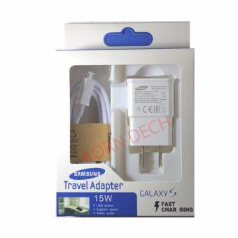 Samsung ที่ชาร์จ+สาย Samsung Galaxy S4/S5/S6 Micro USB Data Cable + Home Wall Charger -