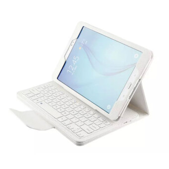 Samsung Tab A 9.7 Bluetooth Keyboard Case Slim Stand PU Leather Case Cover With Romovable Bluetooth Keyboard For Samsung Galaxy Tab A 9.7 T550 T555 P550 P555White