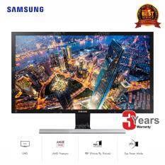 "Samsung UHD 4K Monitor 28"" (LU28E590DS/XT) - Black & Metallic Silver"